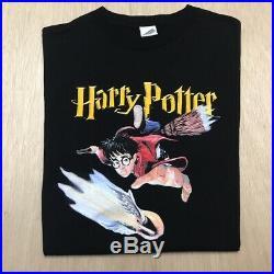 Vintage Harry Potter Movie T Shirt Book Promo Size Large Rare Warner Bros