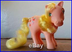 Vintage MY LITTLE PONY 1983 APPLEJACK G1 Rare VERY GOOD condition with accessories