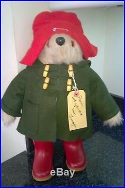 Vintage Rare Early Gabrielle Designs Paddington Bear All Original Clothes Boots
