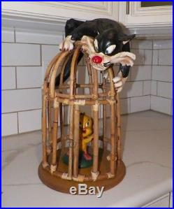 Vintage Warner Bros Sylvester & Tweety Bird Hanging Bird Cage Rare 21