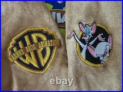 Vintage rare LA Roxx Animaniacs warner brothers crew member ADI jacket S