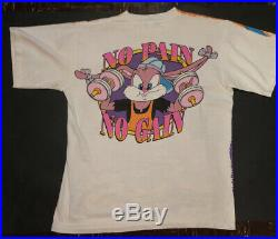Vtg 1993 All Over Print T-shirt Warner Bros. Tiny Tunes Rare Large Looney Tunes