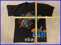 Vtg Rare Space Jam Shirt L Men Looney Tunes Taz Monstars Warner Bros 1996 USA