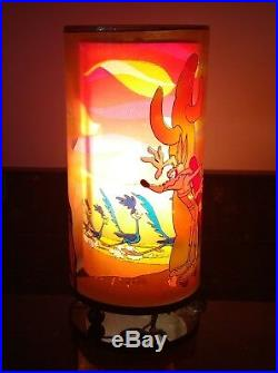 Vtg Road Runner Wile E Coyote Motion Lamp Rare