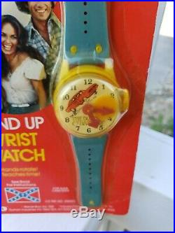 Vtg Toy SUPER RARE DUKES OF HAZZARD WIND UP WATCH Warner Brothers 1981 NOS