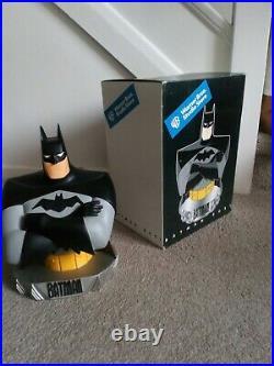 WARNER BROS 1999 BATMAN BUST V RARE 12 Inches STATUE (ORIGINAL BOX)