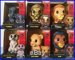 WOOLWORTHS LION KING OOSHIES OOSHIE LARGE BIG VINYLS FULL SET w Rare GOLD SIMBA