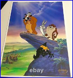 Warner Bros Cel Circus Of Life Bugs Bunny Tasmanian Rare Edition Number 1 Cell