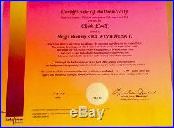 Warner Bros Chuck Jones Signed Cel Bugs Bunny Witch Hazel II Rare Number 1 Cell
