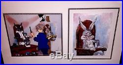 Warner Bros Chuck Jones Signed Cel Self Portrait Bugs Bunny Rare Number 1 Cell