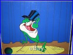 Warner Bros Chuck Jones Signed Michigan J Frog Cel Michigan J Frog V Cell Rare