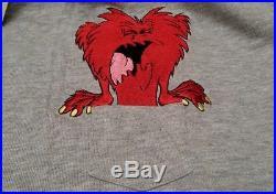 Warner Bros Gossamer Looney Tunes 1996 T-shirt 2xl New & 1995 Suede Hat Oop Rare