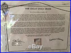 Warner Bros. Michael Jordan Rare Space Jam Signed Cel Hurry See Info