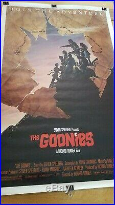 Warner Bros Studio The Goonies Rare 1985 Movie Poster 27x40