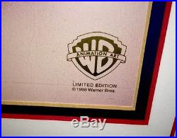 Warner Brothers Bugs Bunny Cel Grilled Rabbit Extremely Rare Animation Art Cell