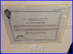 Warner Brothers Bugs Bunny Cel Rhapsody Rabbit Friz Freleng + Rare Gallery Page