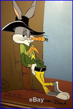 Warner Brothers Bugs Bunny Cel Sheriff Bugs Signed Chuck Jones 1982 Rare Cell