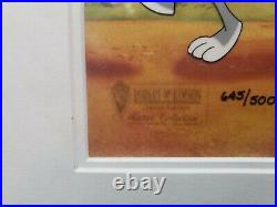 Warner Brothers Cel Bugs Bunny Tweety Bird Foghorn Strike Up The Band Rare Cell