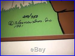 Warner Brothers Cel Marc Antony 2 and Kitty Rare Signed Chuck Jones Cell