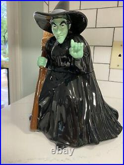 Warner Brothers Wicked Witch Wizard Of Oz Cookie Jar Rare 1998