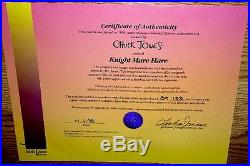Warner brothers bugs bunny cel knightmare hare 2x signed chuck jones rare cell