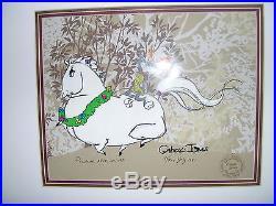 Whats Opera Doc 1 Bugs Bunny & Elmer Fudd signed Chuck Jones framed very rare