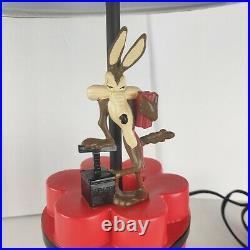 Wile E. Coyote Dynamite Lamp black red Looney Tunes Warner Bros. Rare Vintage